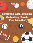 Olympic and Sports Coloring Book for Adults
