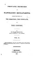 Private Memoirs of Napoleon Bonaparte PDF