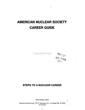 American Nuclear Society Career Guide