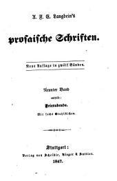 Prosaische Schriften: Bände 9-10