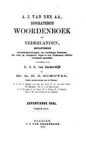 Biographisch woordenboek der Nederlanden: bevattende levensbeschrijvingen van zoodanige personen, die zich op eenigerlei wijze in ons vanderland hebben vermaard gemaakt, Volume 17,Nummer 2
