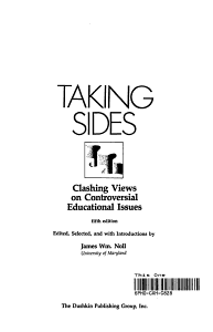 Taking Sides  Clashing Views on Controversial Educational Issues PDF