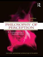 Philosophy of Perception PDF
