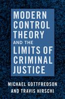 Modern Control Theory and the Limits of Criminal Justice PDF