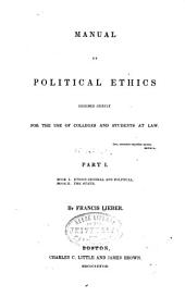 Manual of Political Ethics: Volume 1