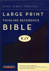 Large Print Thinline Reference Bible KJV Book