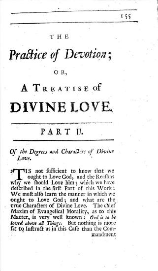 The Practice of Devotion  Or a Treatise of Divine Love PDF