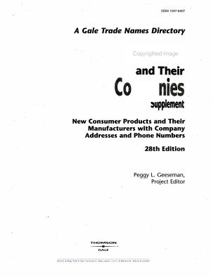 Brands & Their Companies 28 V3 Supplement