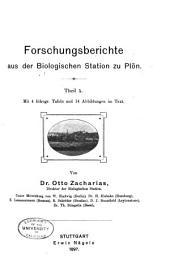 Forschungsberichte aus der Biologischen Station zu Plön: Bände 5-9