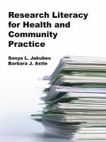 Research Literacy for Health and Community Practice PDF