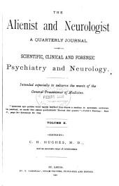 Alienist and Neurologist: Volume 10