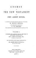 Gnomon of the New Testament PDF