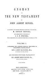 Gnomon of the New Testament: Volume 1