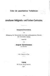Ueber die quantitativen verh  ltnisse des simultanen Helligkeits  und Farben Contrastes PDF