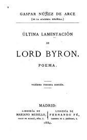 Última lamentación de Lord Byron: poema