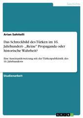 """Das Schreckbild des Türken im 16. Jahrhundert- ,,Reine"""" Propaganda oder historische Wahrheit?: Eine Auseinandersetzung mit der Türkenpublizistik des 16. Jahrhunderts"""