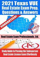 2021 Texas VUE Real Estate Exam Prep Questions   Answers PDF