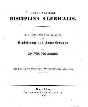 Disciplina clericalis PDF