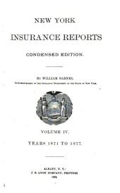 New York Insurance Reports: Volume 4
