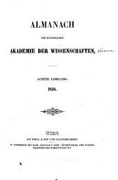 Almanach der kaiserlichen Akademie der Wissenschaften: Band 8