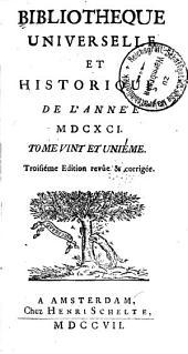 Bibliothèque universelle et historique: Volume21