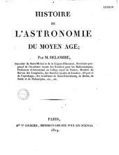 Histoire de l'astronomie du Moyen Age: Volume1