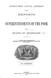 Abstract of the Reports of the Superintendents of the Poor in the State of Michigan ...