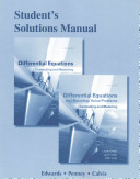 Student Solutions Manual for Differential Equations PDF