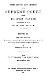 Reports of Cases Argued and Decided in the Supreme Court of the United States: Book 25