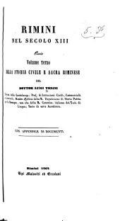Storia di Rimini: Volume 3