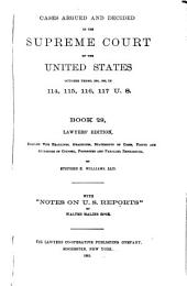 Reports of Cases Argued and Decided in the Supreme Court of the United States: Book 29