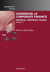 Handbook of Empirical Corporate Finance: Empirical Corporate Finance