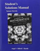 Student s Solutions Manual for a Survey of Mathematics with Applications PDF