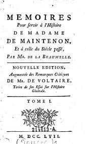 Memoires pour servir a l'histoire de Madame de Maintenon, et a celle du siecle passe: 1, Volume2
