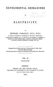 Experimental Researches in Electricity: Volume 2