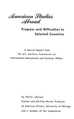 American Studies Abroad PDF