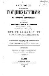 Catalogue d'une collection d'antiquités égyptiennes: rassemblee par M. D'Anastasi, consul general de Suede a Alexandrie, sera vendue aux encheres publiques, rue de Clichy, Numéro76