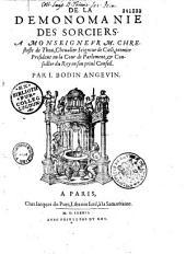 De la Demonomanie des sorciers... par I. Bodin Angevin