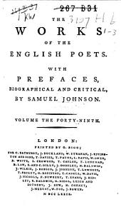 The Poems of Thomson, Hammond and Collins