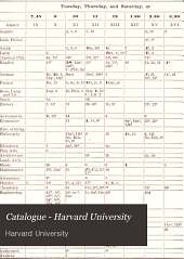 Harvard University Catalogue