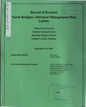 Gallatin National Forest (N.F.), North Bridgers Allotment Management Plan Update: Environmental Impact Statement