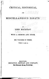 Critical, Historical, and Miscellaneous Essays and Poems: Volumes 1-2