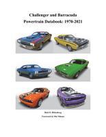 Challenger and Barracuda Powertrain Databook  1970 2021 PDF