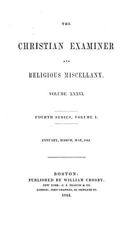 The Christian Examiner and Religious Miscellany PDF