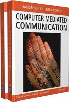 Handbook of Research on Computer Mediated Communication PDF