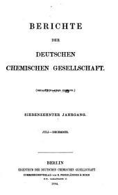 Berichte der Deutschen Chemischen Gesellschaft: Band 17,Seiten 1581-3065