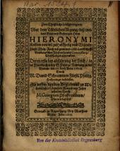 Zwo Christliche Leichpredigten, Vber dem Tödtlichen Abgang, deß weiland ... Herrn Hieronymi Kolben von vn[d] zu Heilsperg vnd Wisendt ...