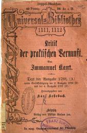 Kritik der praktischen Vernunft von Immanuel Kant