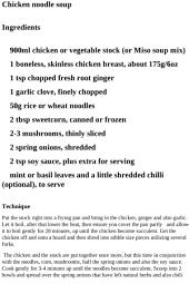 Soup Recipes - Chicken Noodle Soup Recipe