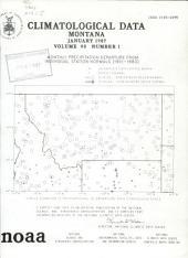 Climatological Data: Montana, Volume 90
